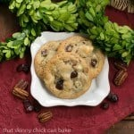 Cranberry, White Chocolate, Crystallized Ginger Cookies #CookieWeek #Giveaway