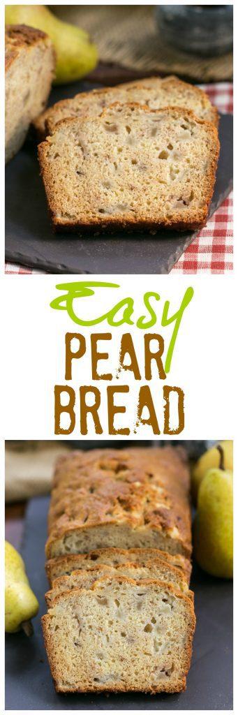 Sour Cream Pear Bread pinterest photo collage