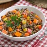 French Lentil Salad #IFBC  #FrenchFridayswithDorie #SkinnyTip