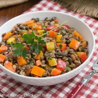 French Lentil Salad | Lentils tossed with a lovely vinaigrette | That Skinny Chick Can Bake