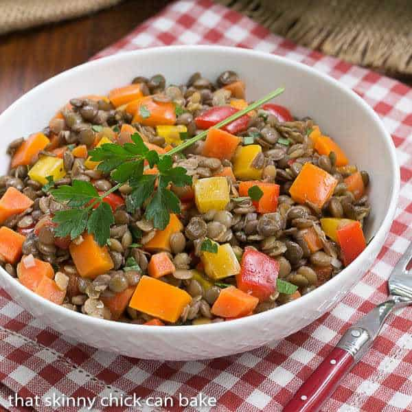 French Lentil Salad | Lentils tossed with a lovely vinaigret..