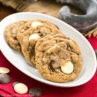 Triple Chocolate Chunk Oatmeal Cookies   Perfect treat for you cookie monsters!