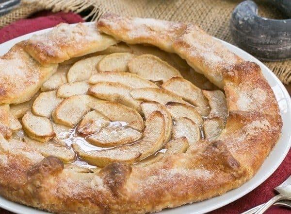 Maple Glazed Apple Tart | A lovely, rustic autumnal dessert