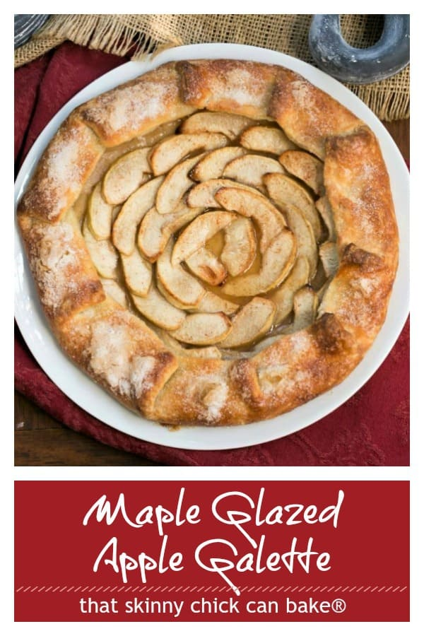 Maple Glazed Apple Galette photo and text collage