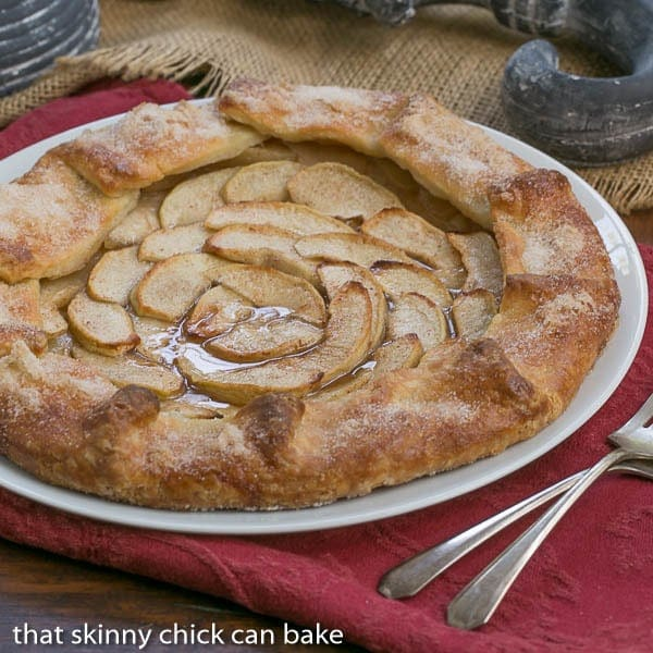 Maple Glazed Apple Tart | A lovely autumnal dessert