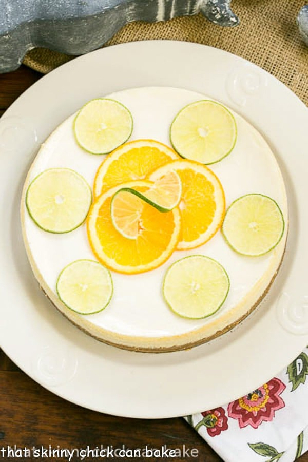 Margarita Cheesecake | An exquisite citrus cheesecake with the flavors of a margarita!
