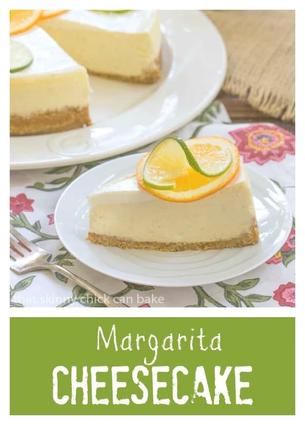 Margarita Cheesecake | A delightful cheesecake with all the flavors of a margarita!