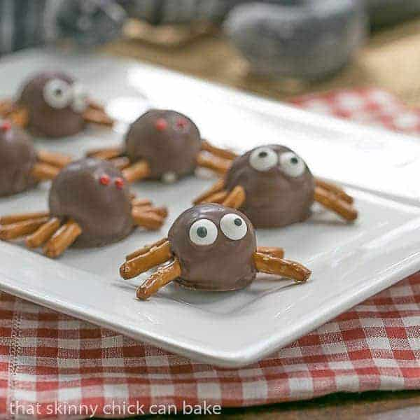 Potato Candy Spiders - A spooky fun Halloween recipe that's a twist on an old fashioned recipe for potato candy!