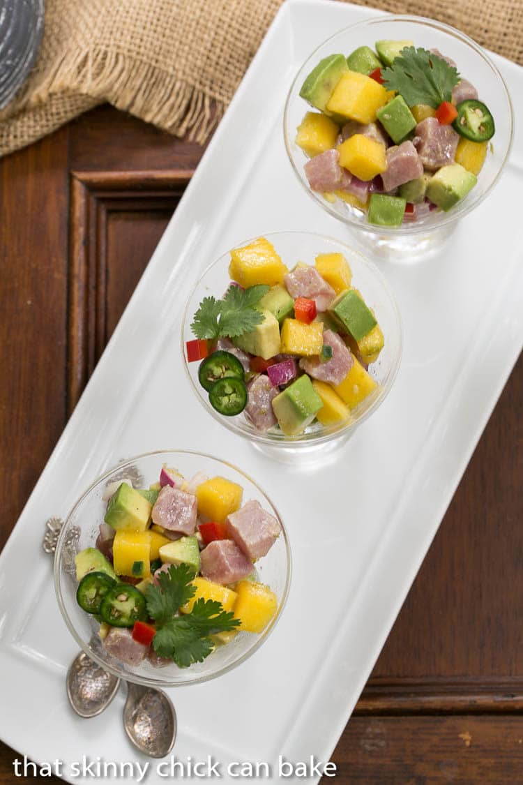 recipe: tuna mango ceviche [6]