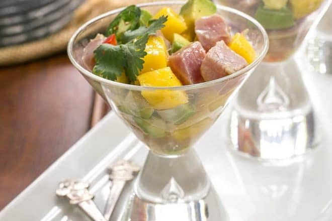 Tuna and Mango Ceviche | A restaurant worthy dish you can make at home!