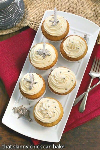 Vanilla Cupcakes with Cream Cheese Frosting are the perfect dessert for any occasion