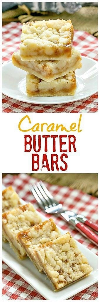 Caramel Butter Bars pinterest collage