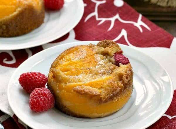 Oven Roasted Peach Cakes | A terrific, adaptable dessert featuring stone fruit!