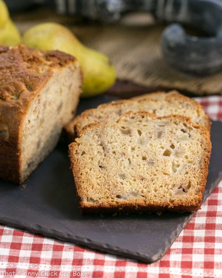 Sour Cream Pear Bread