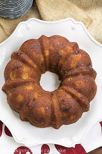 Apple Ginger Coffee Cake overhead view