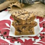 Chocolate Chip Topped Butterscotch Bars #Kerrygold