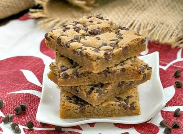 Chocolate Chip Topped Butterscotch Bars