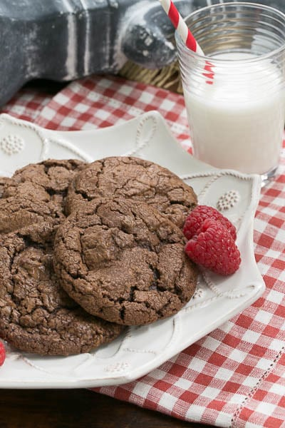 Double Chocolate Chunk Cookies|Rich chocolate cookie recipe|That ...