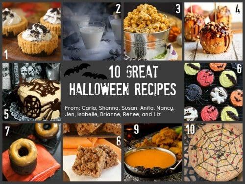 10 Halloween Recipes collage