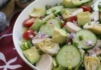 Hearts of Palm, Artichoke, Avocado and Butter Lettuce Salad