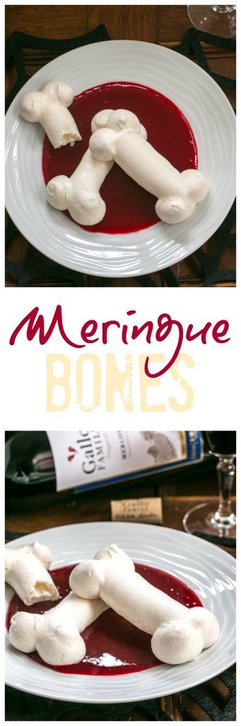 Meringue Bones | A sweet. crisp, ghoulish Halloween treat