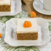 The Halloween Project Week One Pu:mpkin Bars with Cream Cheese Frosting