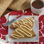 White Chocolate Drizzled Pumpkin Scones #PumpkinWeek