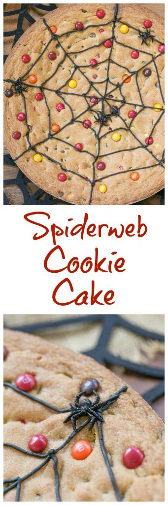 Spiderweb Cookie Cake | A fun and tasty Halloween dessert that will please the whole family!!!