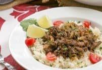 Vaca Frita or Cuban Shredded Beef #SundaySupper