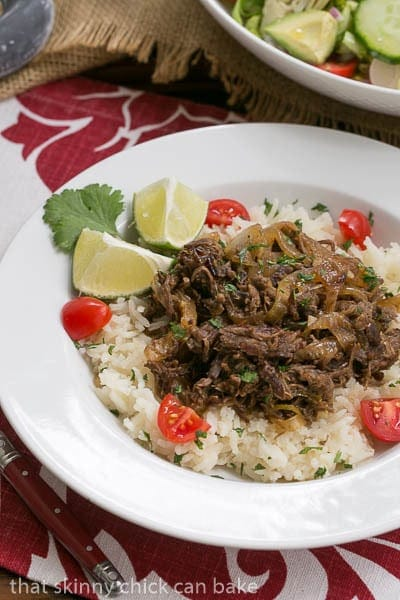 Vaca Frita | Cuban Shredded Beef | #SundaySupper