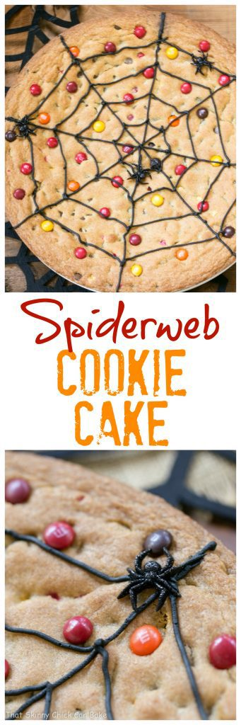 Spiderweb Cookie Cake | A fun, tasty easy Halloween dessert that will please the whole family!!!