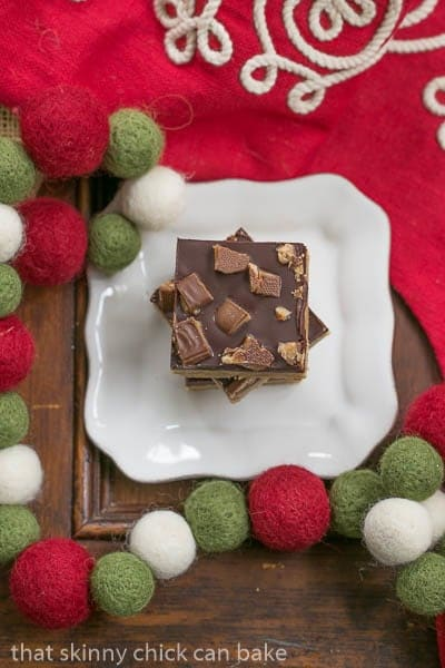 Candy Topped Toffee Squares