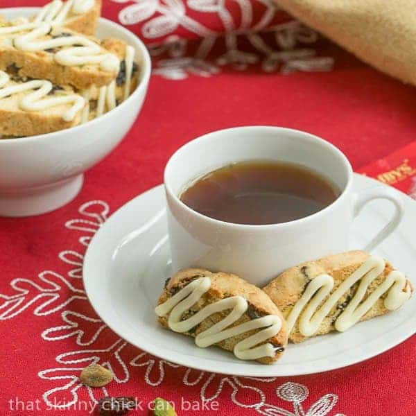 Cherry Pistachio Biscotti |Terrific holiday or hostess gift