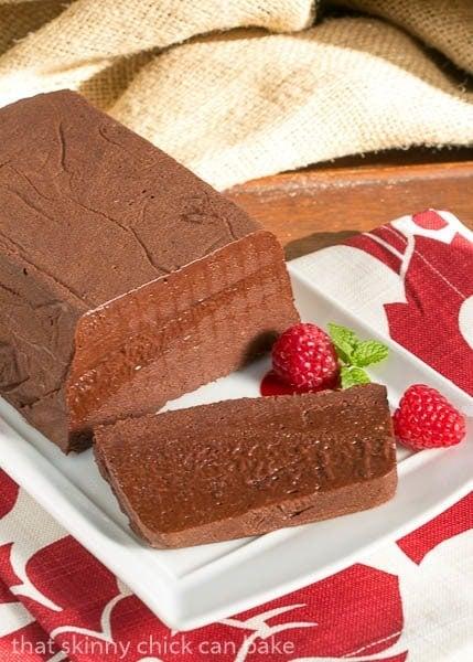 Chocolate Terrine with Raspberry Sauce | a spectacular holiday dessert
