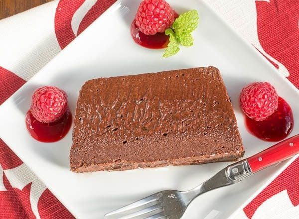 Chocolate Terrine with Raspberry Sauce | a spectacular holiday dessert