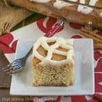 Cinnamon Roll Coffee Cake #Two Sweetie Pies