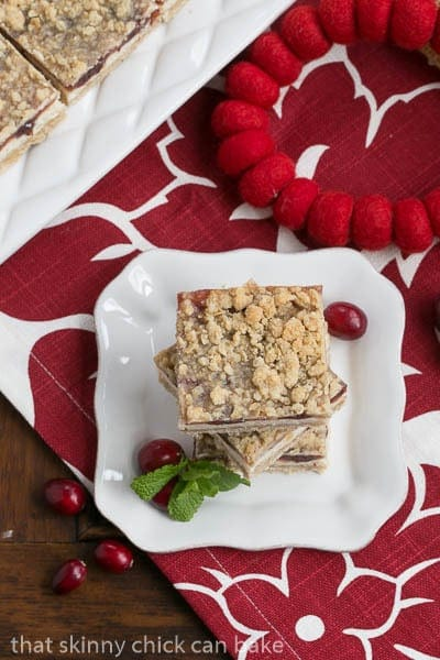 Cranberry Cheesecake Bars #SundaySupper