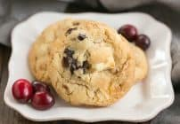Cranberry, White Chocolate, Crystallized Ginger Cookies #CookieWeek