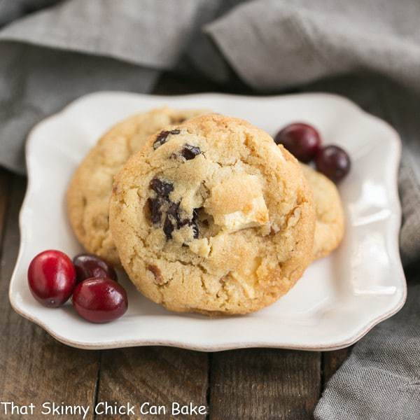 Cranberry, White Chocolate, Crystallized Ginger Cookies   A star studded cookie that's perfect for the holidays and all year long!