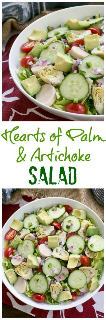 Hearts of Palm, Artichoke, Avocado and Butter Lettuce Salad