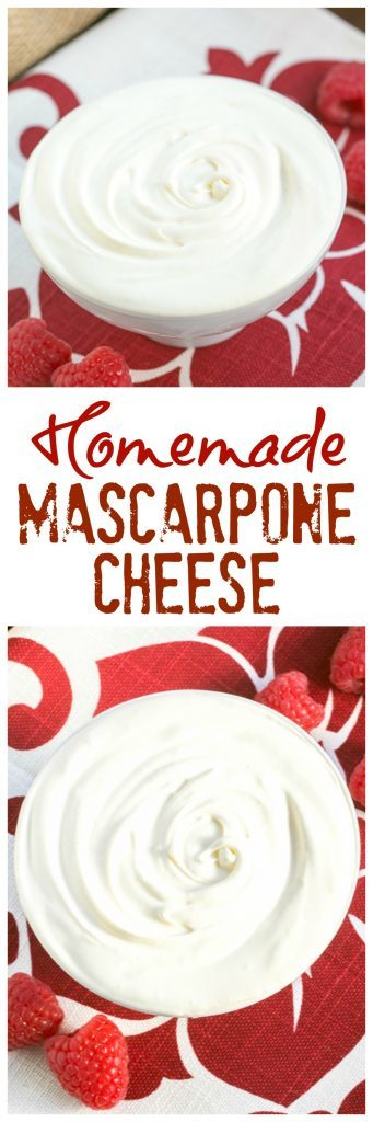 Homemade Mascarpone | How to make mascarpone cheese at home. It's SO easy!