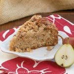 Pear Streusel Coffee Cake #SundaySupper