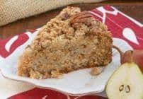 Pear Streusel Coffee Cake |#SundaySupper