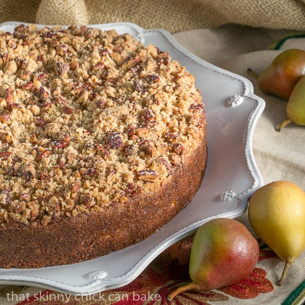 Pear Streusel Coffee Cake |#SundaySupper