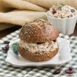 Tuna, Cranberry, Pecan Salad Sandwich