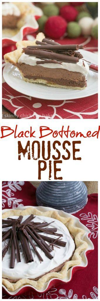 Black Bottom Chocolate Mousse Pie | A layered chocolate sensation! @lizzydo