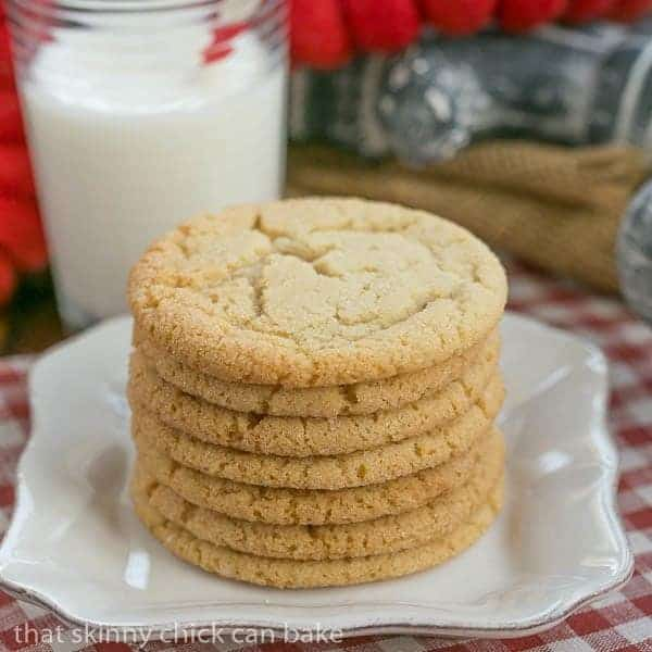Butterscotch Cookies stacked on a white plate