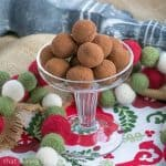 Caramel Filled Chocolate Truffles #BoozyTruffles