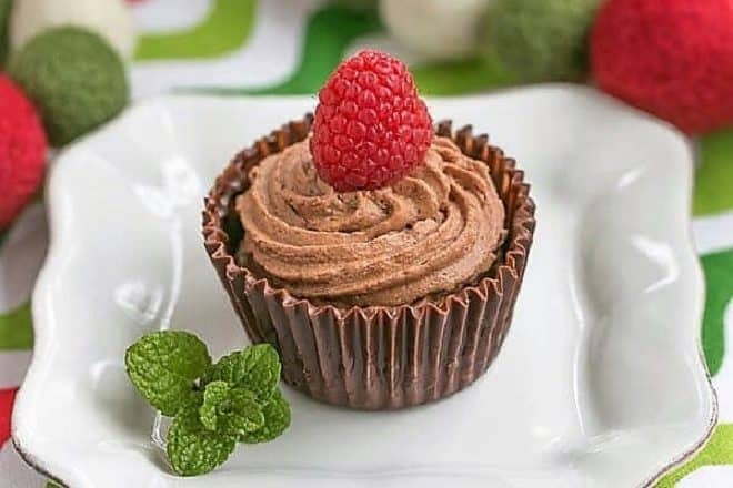 Chocolate Mousse Cups - Homemade chocolate shells filled with a luscious chocolate mousse