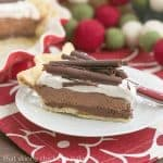 Black Bottom Chocolate Mousse Pie #SafeNog